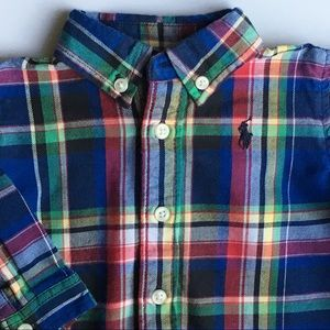 Ralph Lauren Polo shirt size 3 Months plaid boys